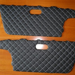 Quilted Leather Door Panels (Handmade)
