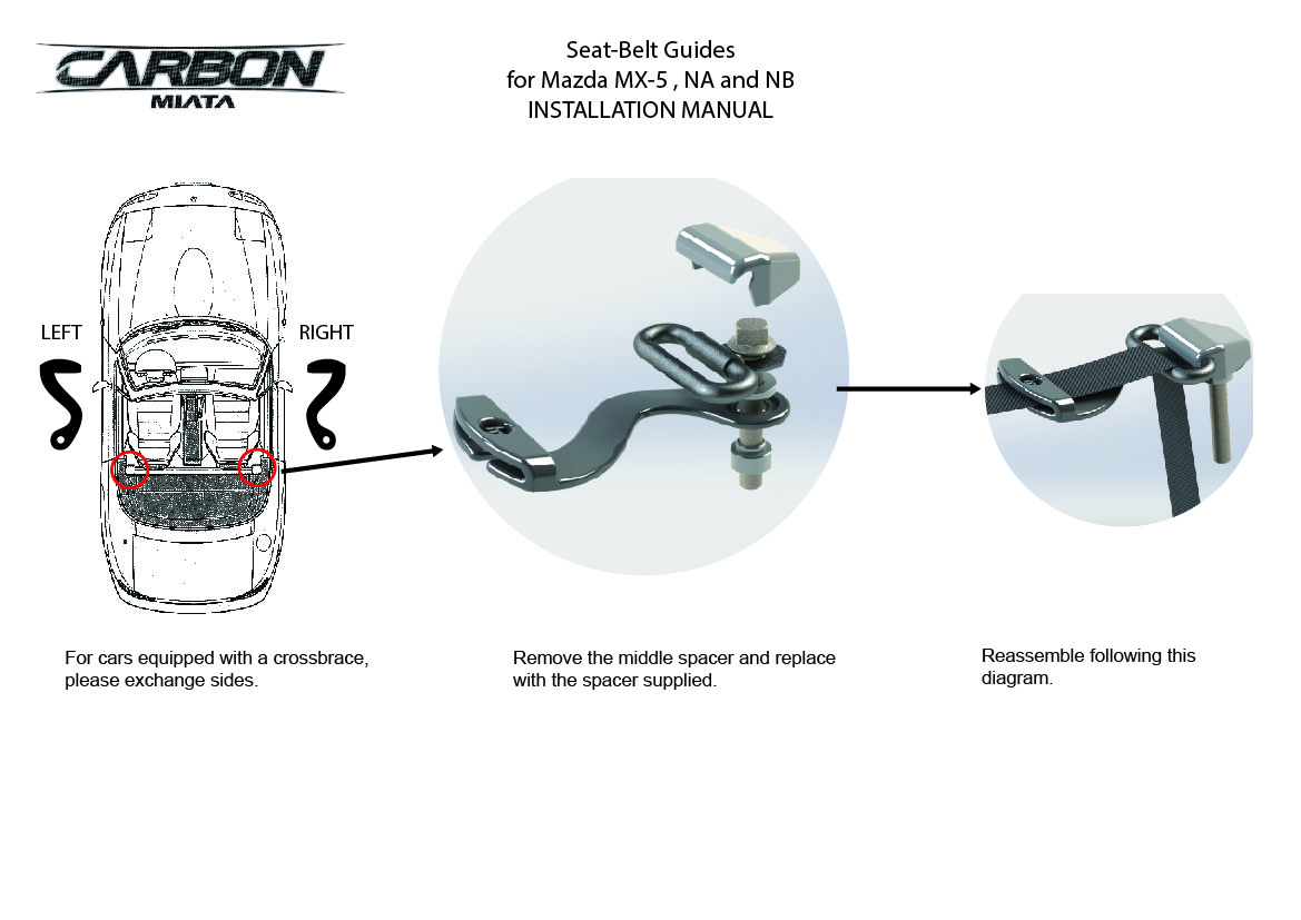 Seatbelts Extenders The Ultimate Resource For Mazda Miata Parts 94 Engine Diagram
