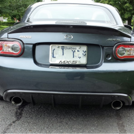 Rear Diffuser (OEM Exhaust) For Miata NC/Mk3