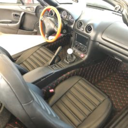 Quilted Floor mats (Premade material) For Miata NA/NB