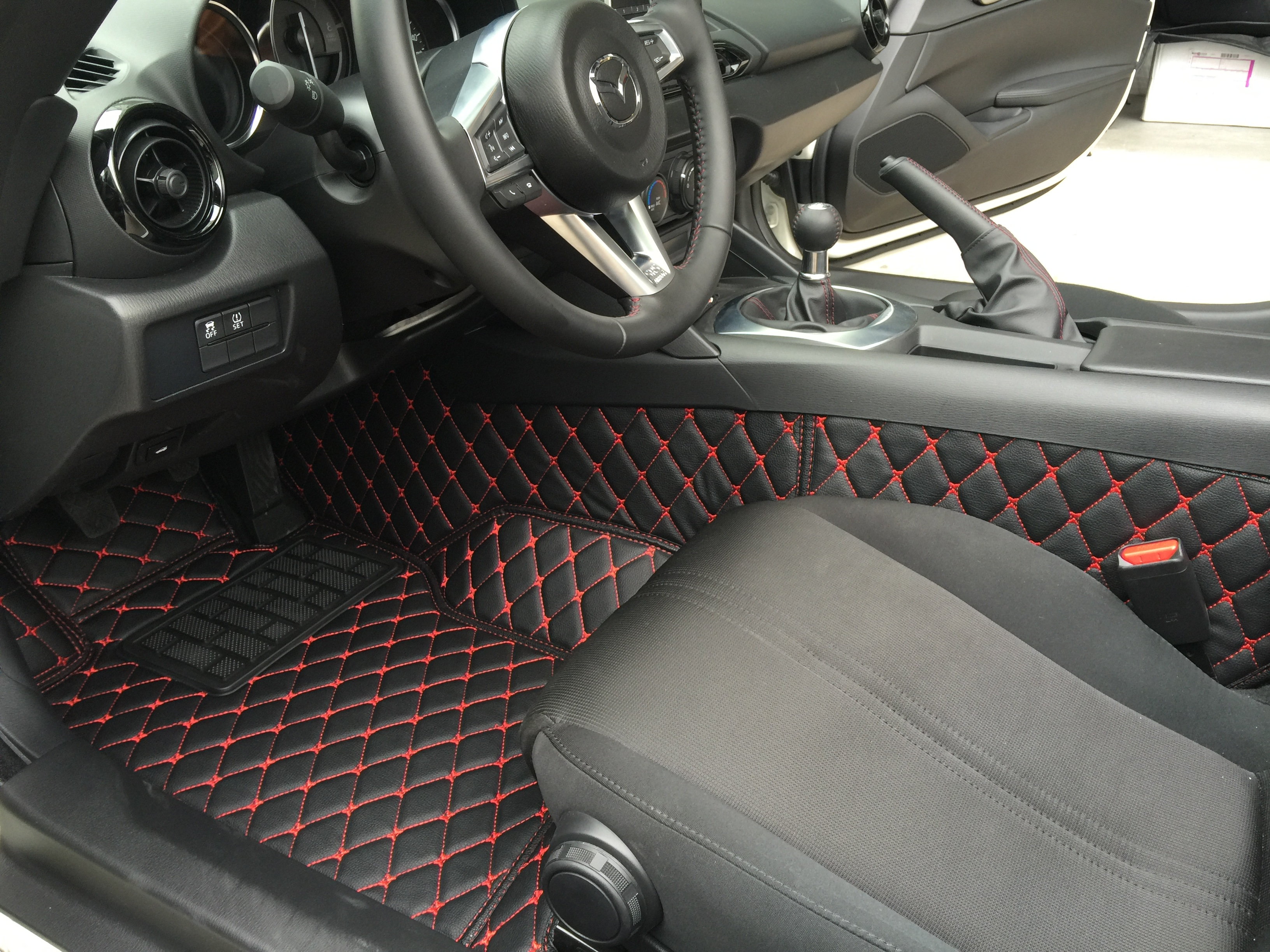 Quilted faux leather floor mats are about to be released mx 5 miata forum