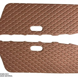 Quilted Leather Door Panels (Premade material)