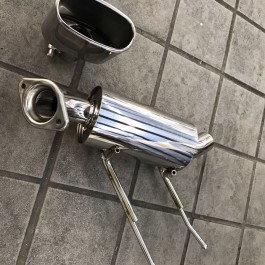 Lightweight Exhaust Muffler + Oval tip