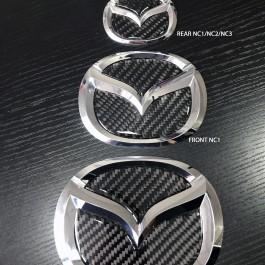 Carbon Fiber Inserts for Mazda Emblems For Miata NC/Mk3