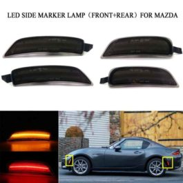 LED 4-Pieces Set Side Marker Lights (Smoked Design) For ND