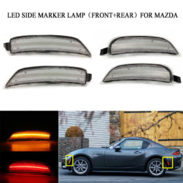 LED 4-Pieces Set Side Marker Lights (Clear design) For ND