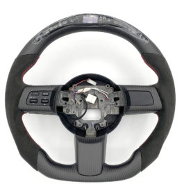 Carbon Fiber/Alcantara Steering Wheel With LED Screen For Miata NC/Mk3