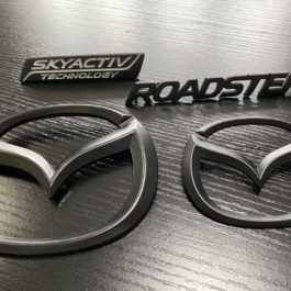 Matte Black 4 Pieces Mazda Emblems Set For Miata ND/Mk4