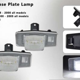 LED License Plate Lights for Miata NB/Mk2